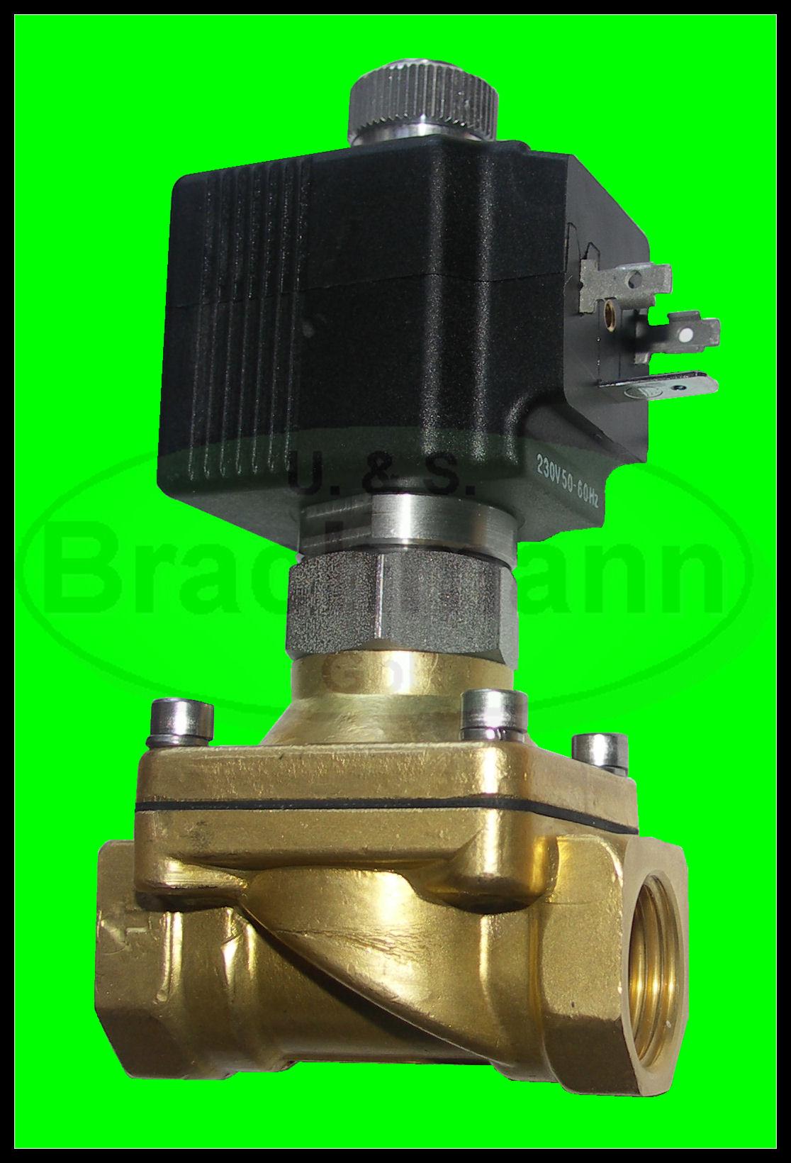 """Magnetventil SVS 3//4/"""" 230V 50Hz 0-14bar NC Viton Heizung Wasser Luft Industrie"""